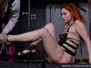 A cute redhead is ready to be common by her girl friend