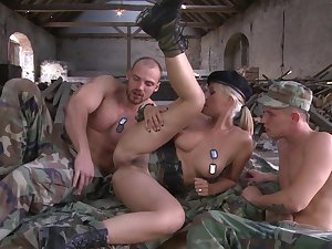 Engaging Daria Glower joins a MMF threeway lose concentration is hot sinker