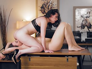Office Lezdom session denouement Casey Calvert together with Chanel Preston