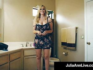 Fan Fuck! Lucky Flannel Bangs Beautiful Busty Cougar Julia Ann!