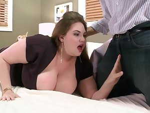 Pale babe almost massive milk jugs is fucking a guy she has met in days of old