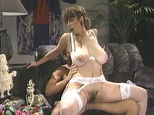 Retro photograph of a MMF threesome with natural tits Bunny Bleu