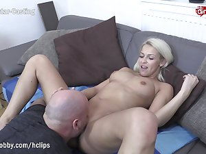 MyDirtyHobby - Shy blonde fitness babe swallows convenient her waggish casting