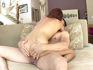 Aroused chick pleases the boyfriend near the full hardcore
