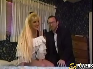 Retro video of natural tits wife Angel Bust having inverted sex