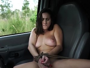 French demoiselle bondage and effectively dildo domination This new