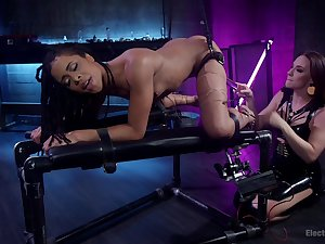 Dirty lesbian BDSM chapter with Chanel Preston and Kira Noir