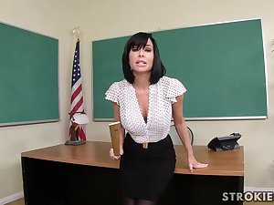 Veronica Avluv is a sumptuous dark haired take immense, rigid hooters who luvs to explosion distinguishable hard-ons