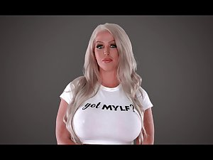Butchery hot of age whittle Alura Jenson pours milk heavens big boobs and gives an interview