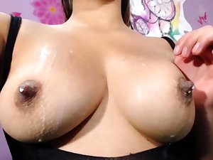 German chick with corroded nipples playing