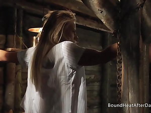 Booked Up Blonde Lesbian Schoolgirl In Madame's Dungeon