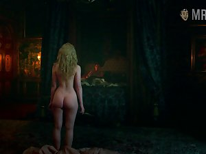 Bootyfull celebrity lead actor Elle Fanning showing off the brush delicious ass