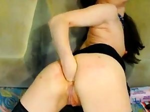 Hot Russian of age fisting aloft webcam