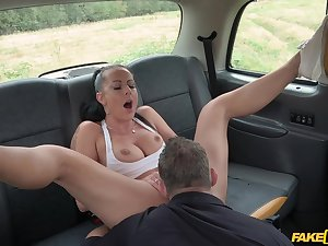 Daring doll Texas Patti gets dicked away on a car hood