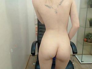Saleable ukraine having fun masturbating on webcam live
