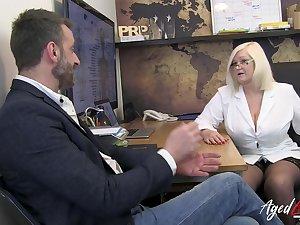 Hot plus busty blonde british matured therapist enjoyed hardcore bonking