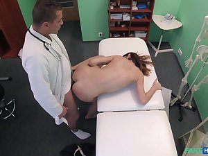 Doctor fucks young patient and reportage her in close down b close