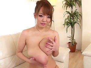 Asian on touching huge boobs having amazing sex