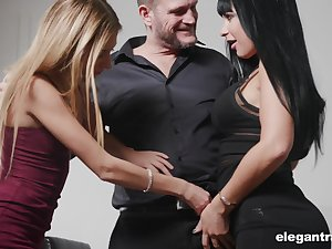 Valentina Ricci and their way nasty girlfriend are fucked by one kinky and insatiable man