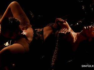 Hot Polish milf Ania Kinski is making love in the dim light